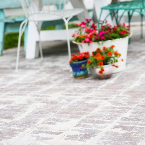 how to lay and age a brick patio