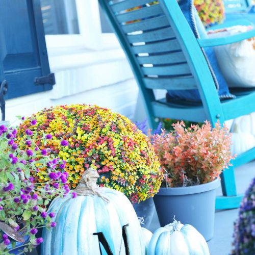 the cheater's guide to a fun fall porch