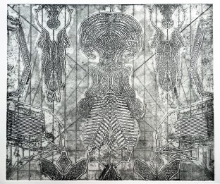 Johnny Adimando (Providence, RI) A Subtle Misconception That Routine Equals Progress Copperplate etching