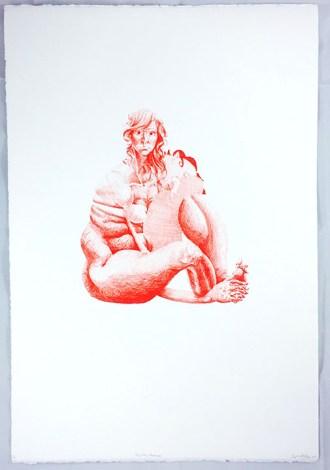 Thayer Bray (Kansas City, MO) Her, Sitting (kneesuck) Lithograph