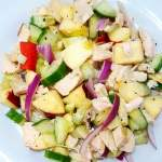 healthy apple and chicken salad-min