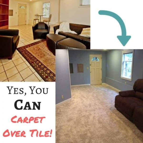 yes you can carpet over tile floor