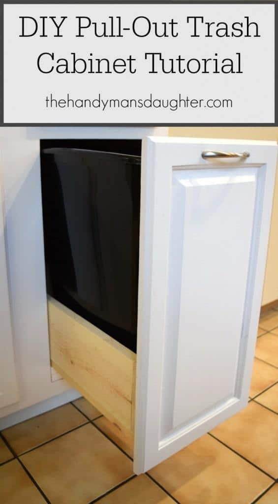 DIY Pull Out Trash Can Cabinet Tutorial