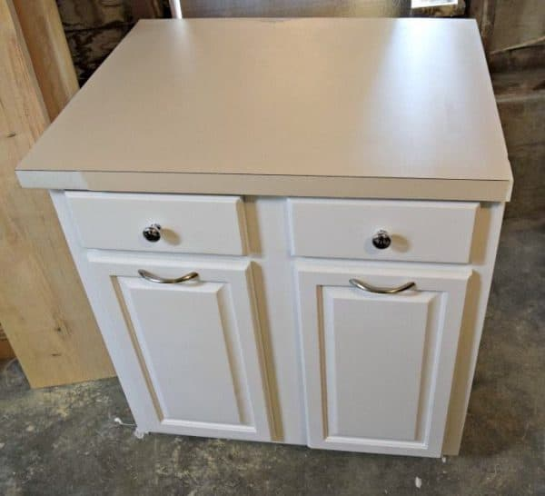 kitchen countertop cover home depot backsplash tiles for contact paper counter 2 years later the handyman s daughter cabinet is painted and damage has been spackled smooth