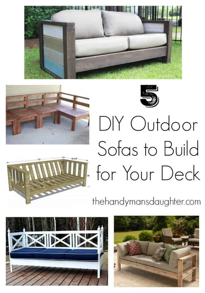 plans to build a sofa bed super amart settler table 5 diy outdoor sofas for your deck or patio - the ...