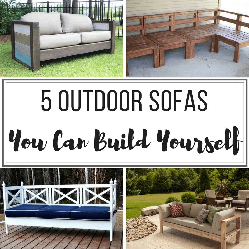 how to make a simple lego sofa best deals on 5 diy outdoor sofas build for your deck or patio the handyman s daughter