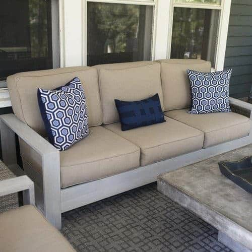 Build Your Own Outdoor Sofa And Loveseat The Handymans