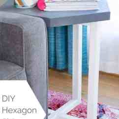 Diy Living Room Side Tables Small Design Without Sofa Hexagon Table The Handyman S Daughter Add A Modern Touch To Your With This Free