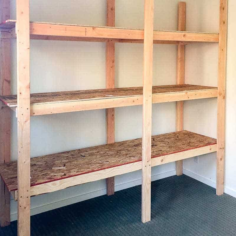 How to Build Storage Shelves for Less than 75  The