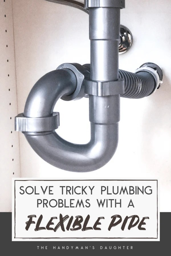 how to install a flexible waste pipe