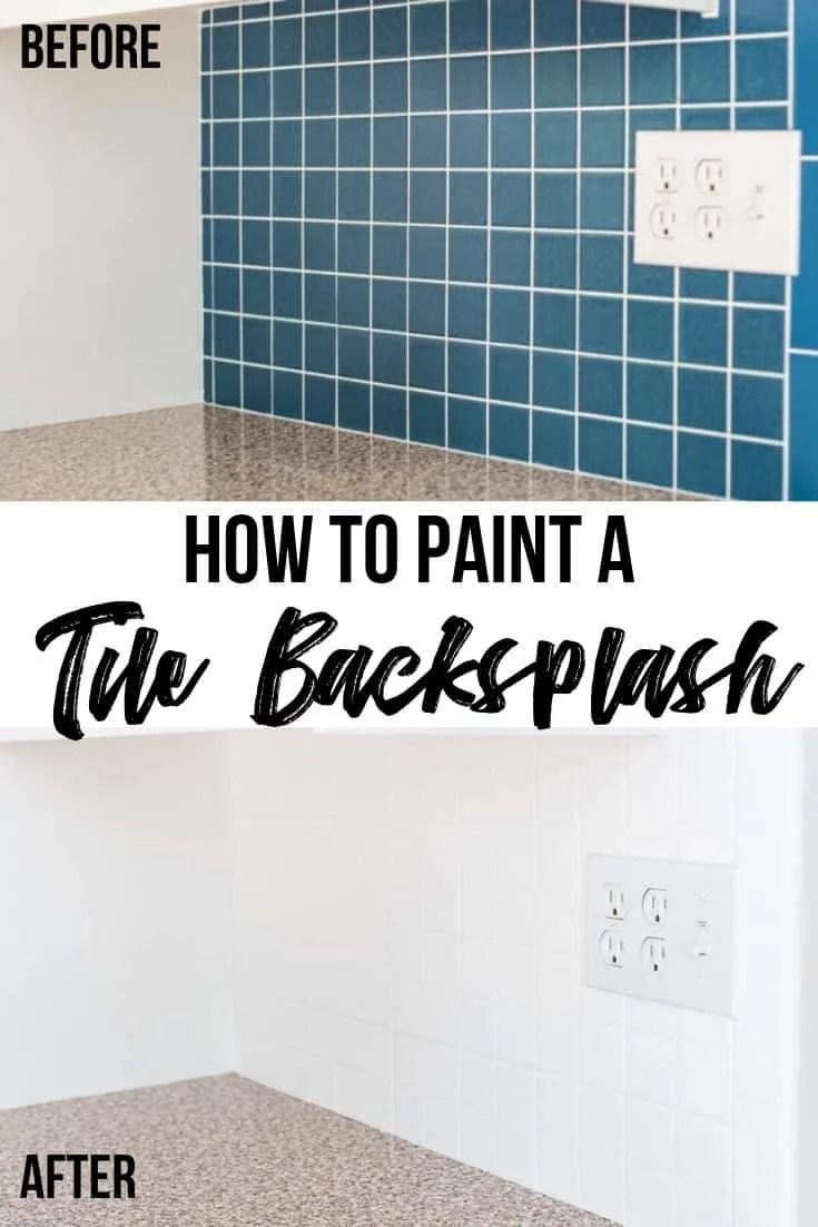 for painting tile backsplash