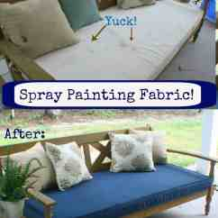Diy Patio Chair Cushion Covers Black Plastic Chairs Outdoors Spray Painting Fabric The Happier Homemaker
