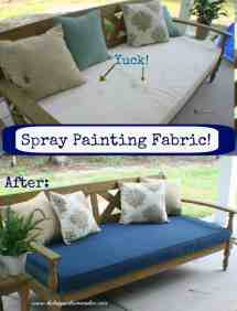 Spray Painting Fabric Furniture
