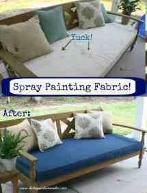 Spray Painting Fabric Happier Homemaker