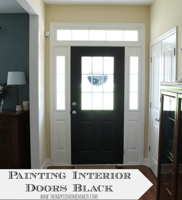 Painting Interior Doors Black The Happier Homemaker