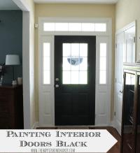 Painting Interior Doors Black | The Happier Homemaker