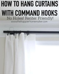 How to Hang Curtains without Holes- Renter Friendly Window ...