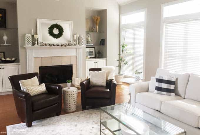 Traditional Living Room Makeover and Neutral Autumn Decor