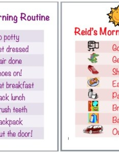Side by morning routine chartsg also how to make  chart using ms word  free clip art rh thehappiesthome