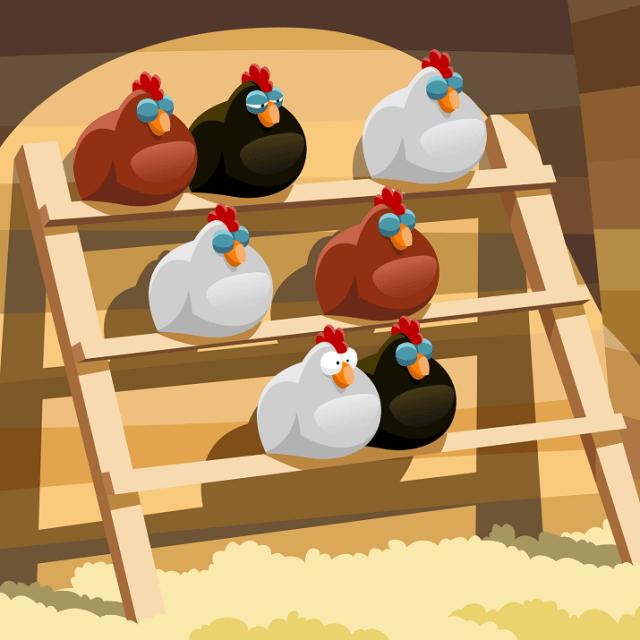 Ladder Chicken Roosting Perch