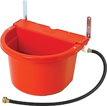 Red Automatic Poultry Waterer