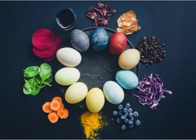 Black chicken eggs colored naturally