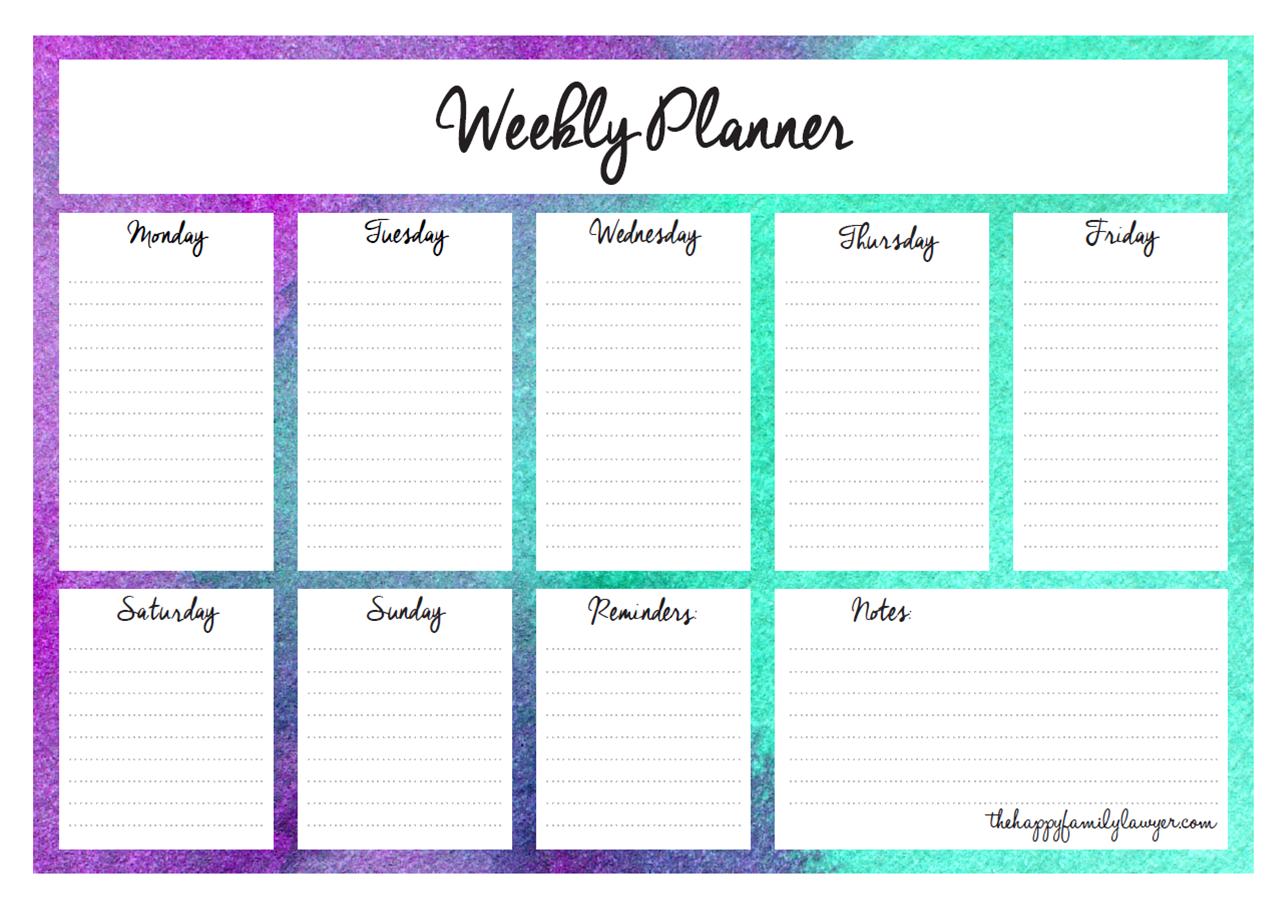 Download Your Free Weekly Planners Now 5 Designs To