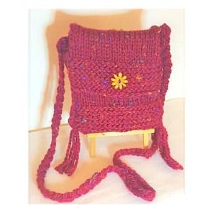 Handmade Knitted Bag - Navajo
