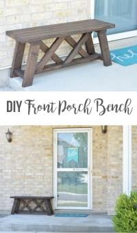 DIY Front Porch Bench - The Happy Scraps