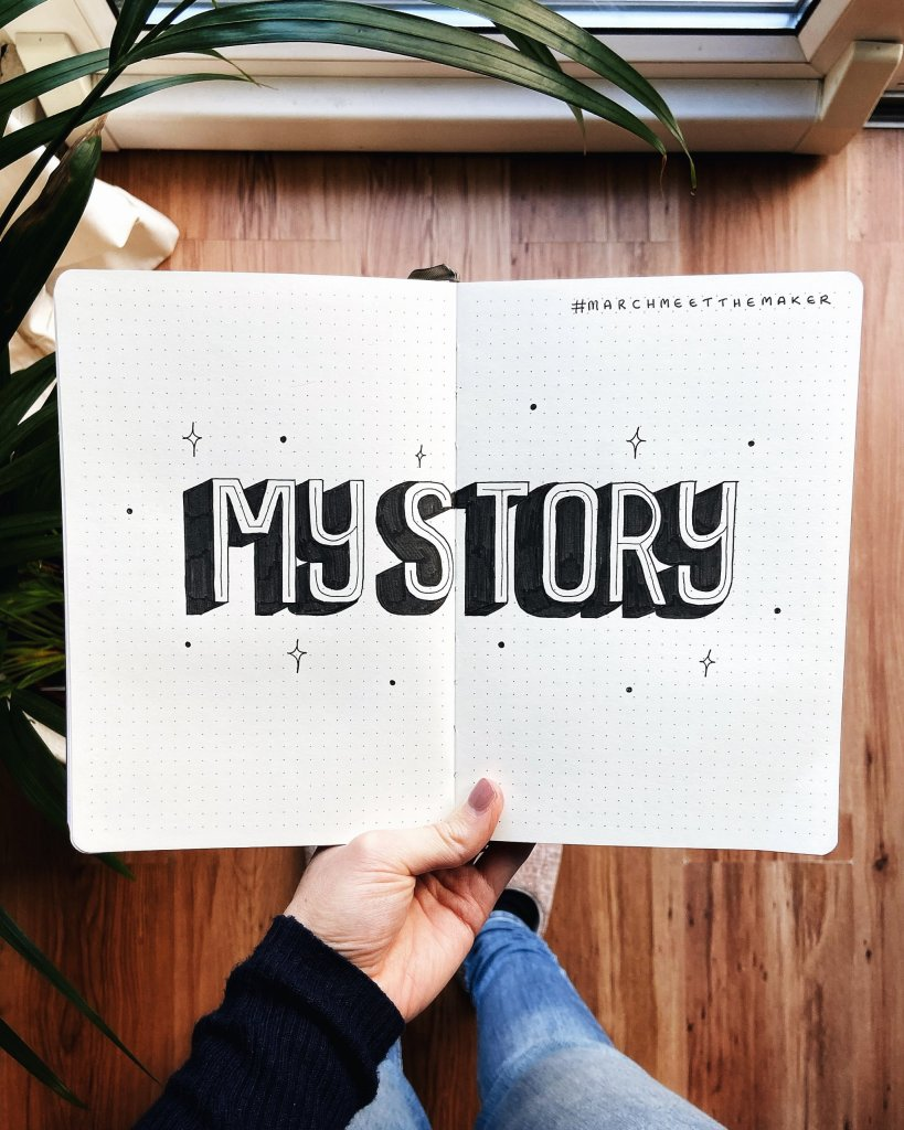 My Story lettering