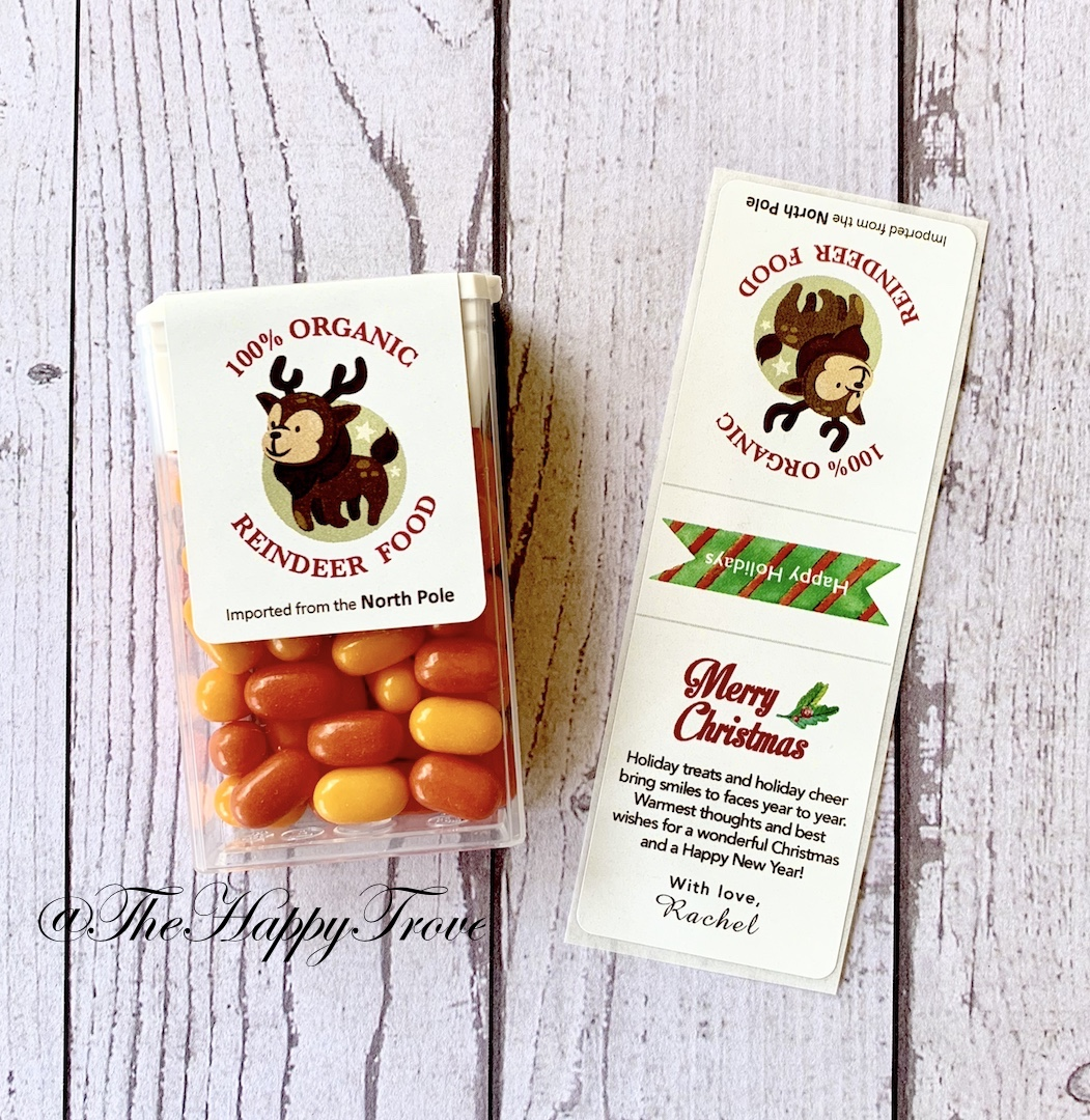 christmas edition tic tac favour labels