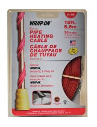 Wrap On Company 31018 18ft. 36W 120V Pipe Heating Cable