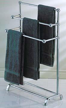 Taymor 011085  Freestanding 3Tier Towel Rack Polished Chrome  The Hardware Hut