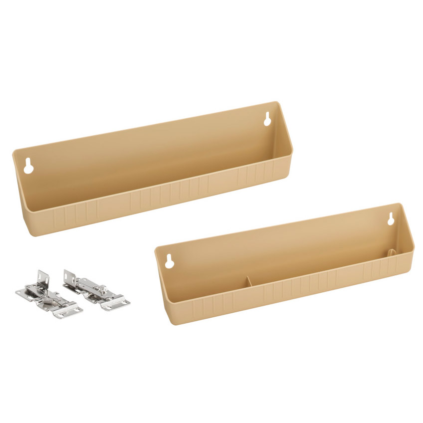 rev a shelf 14 356mm sink front tip out tray system w self holdin hinges set almond
