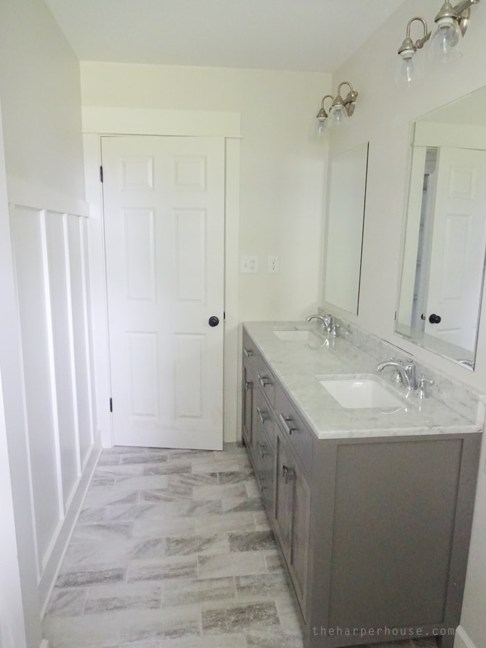 Classic Gray and White Bathroom  The Harper House
