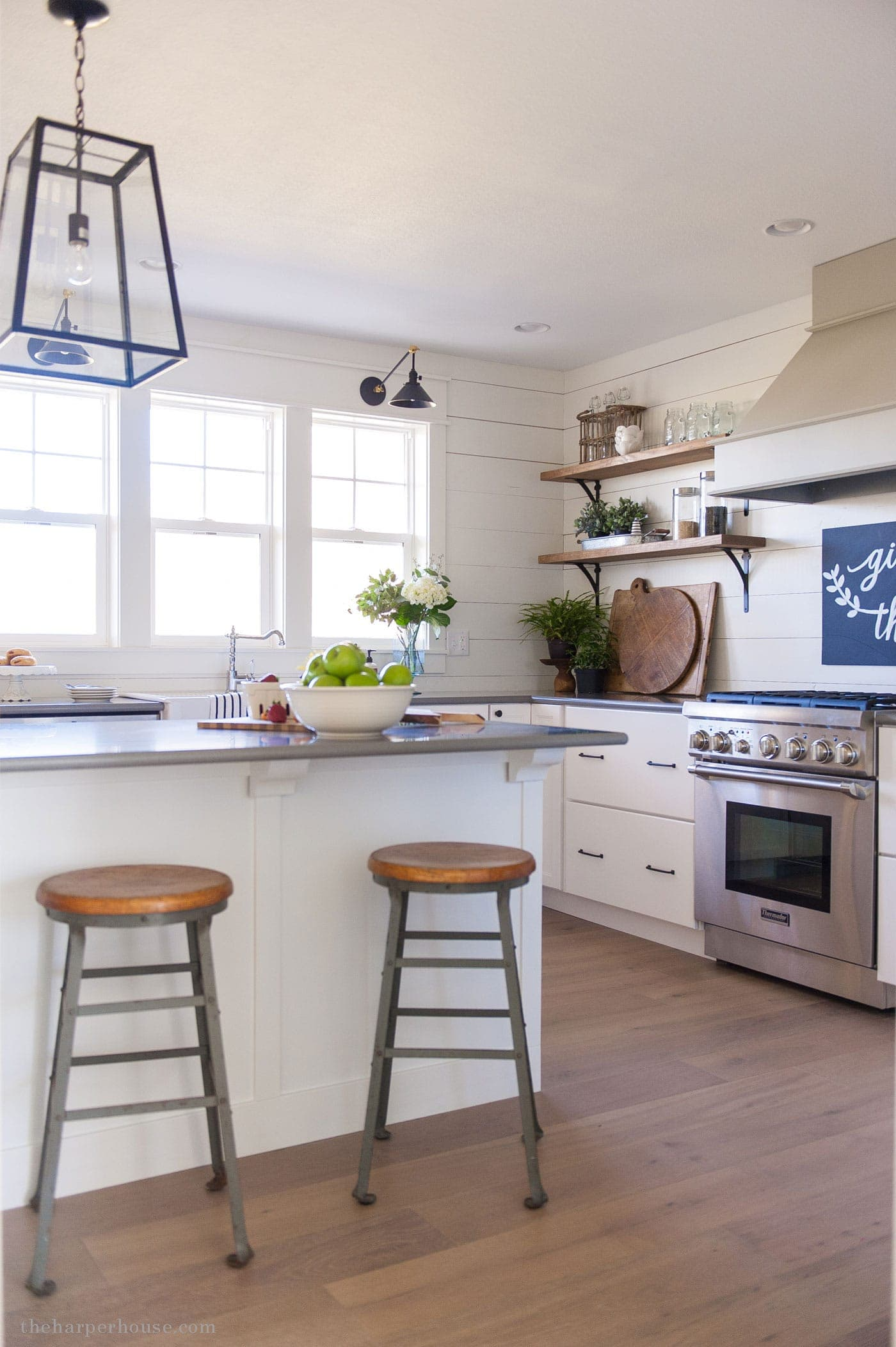 ikea kitchen upper cabinets ninja complete system farmhouse style details | the harper house