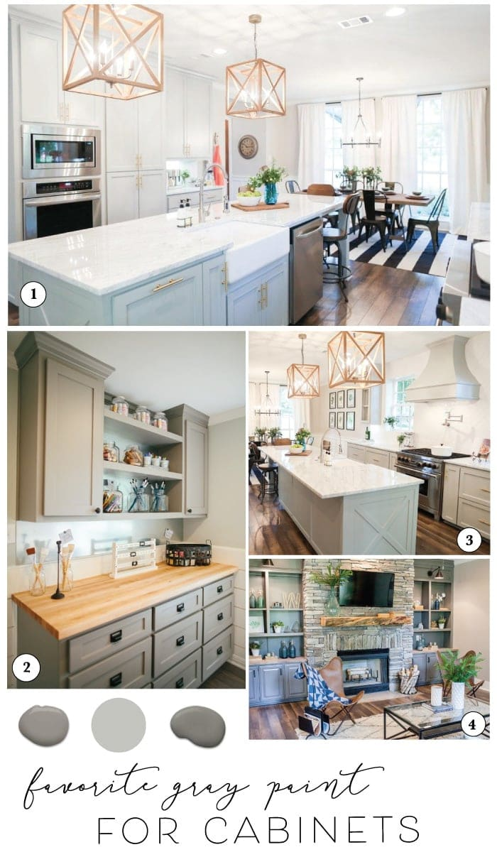 paint colors kitchen value city furniture sets best for cabinets cabinet the harper house sharing and joanna s favorite gray farmhouse