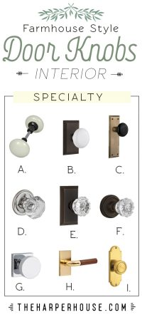 Modern Farmhouse Interior Door Knobs | The Harper House