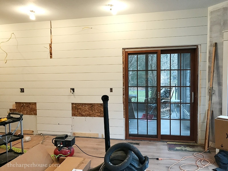 Kitchen Remodel Adding A Shiplap Wall The Harper House