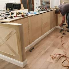 Kitchen Trim Faucet Repair Kit Island And Lights The Harper House Adding Diy To Basic Builder Grade Cabinets Ideas Modern