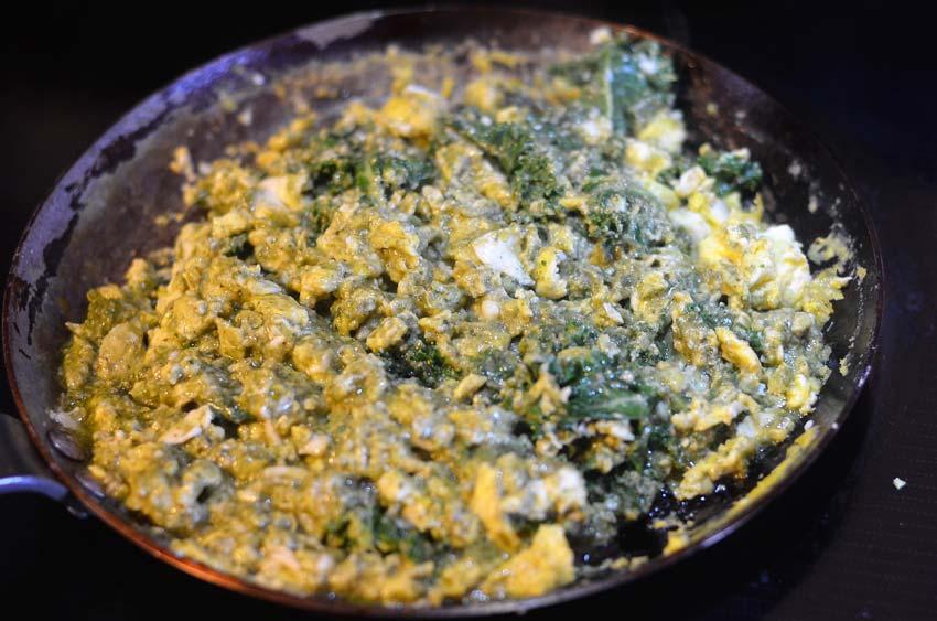 pesto scrambled eggs savory breakfast