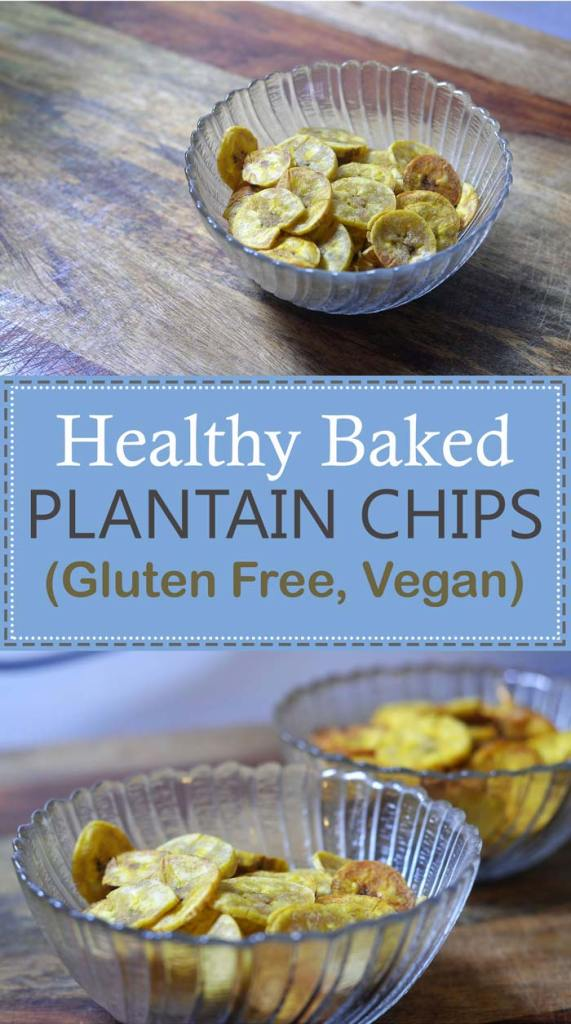 healthy baked plantain chips gluten free grain free vegan