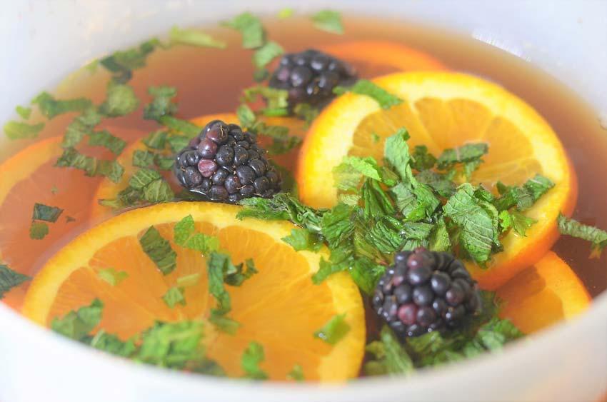 blackberry orange mint iced tea
