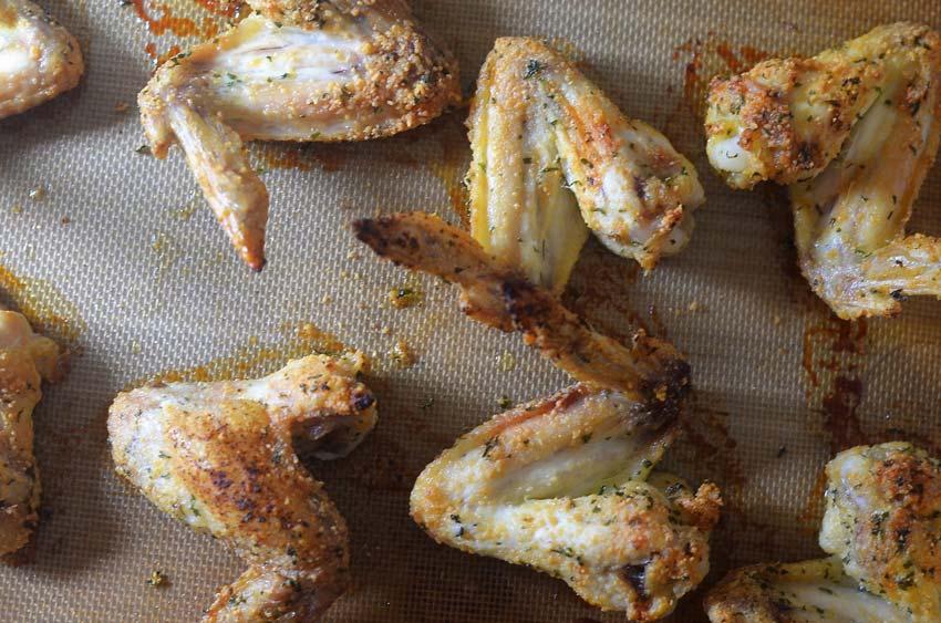 parmesan garlic baked chicken wings gluten free grain free