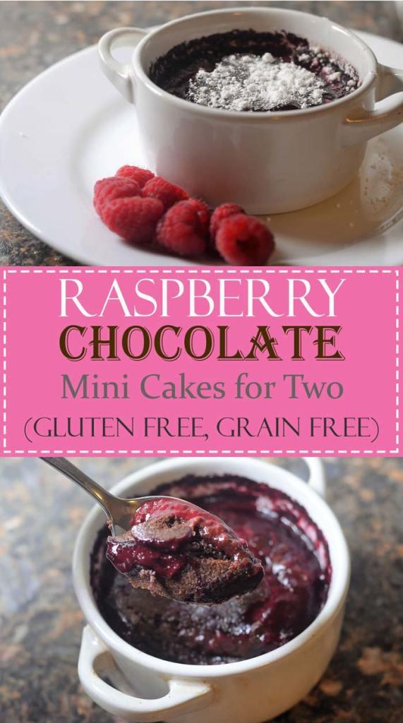 chocolate raspberry mini cakes for two gluten free grain free