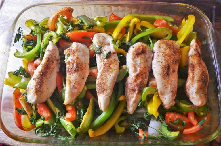 These baked chicken fajitas are delicious! Paleo, whole 30, gluten-free, grain-free, dairy-free!