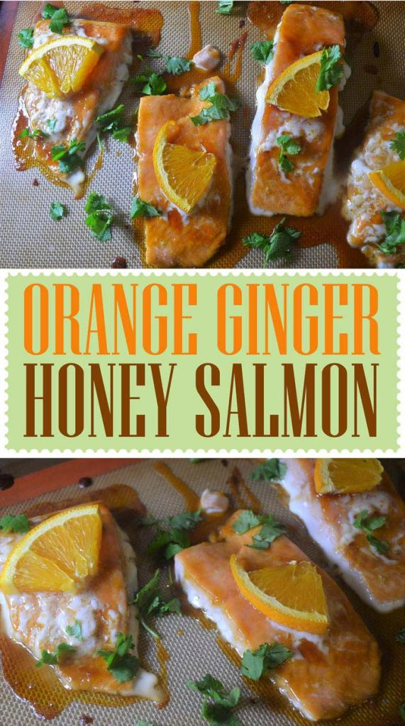 orange ginger honey salmon