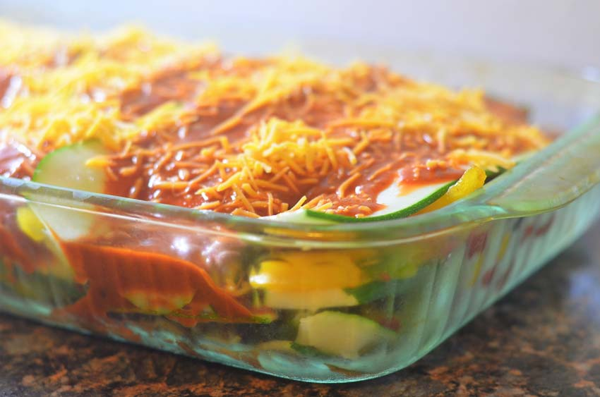 low carb mexican zucchini lasagna