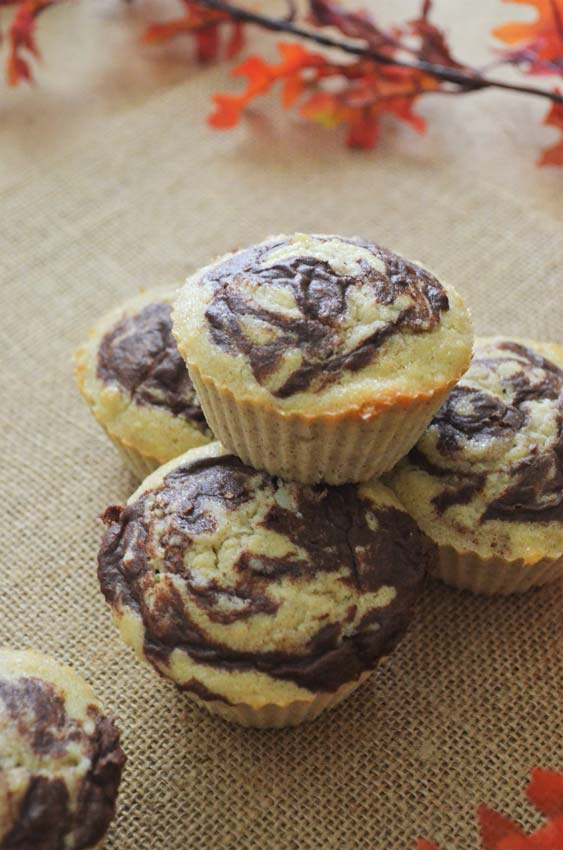 coconut cinnamon swirl muffins gluten-free grain-free low-carb dairy free paleo