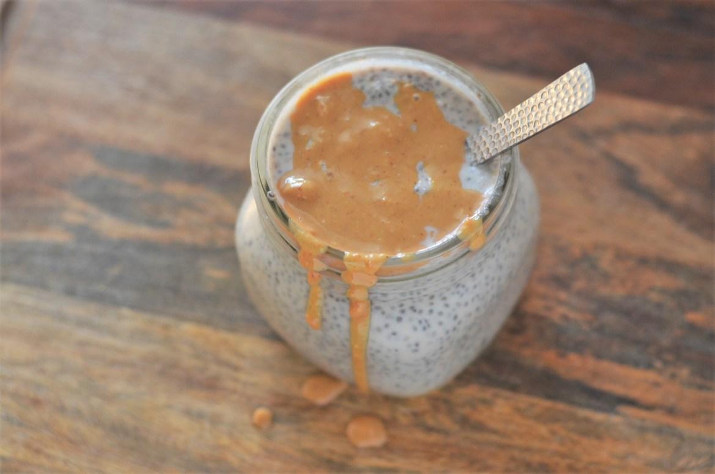 peanut butter chia pudding gluten free low carb vegan